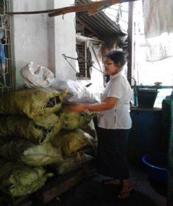 Female Entrepreneur in Myanmar being helped by BCF